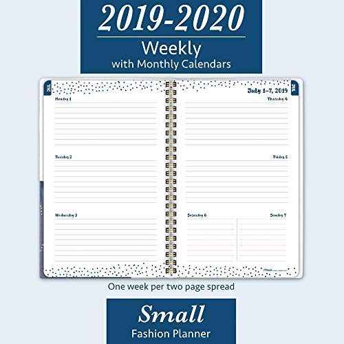 "Mead 2019-2020 Academic Year Weekly & Monthly Planner, Small, 5-1/2"" x 8-1/4"", Shape It Up, Blue (5218S-200A)"