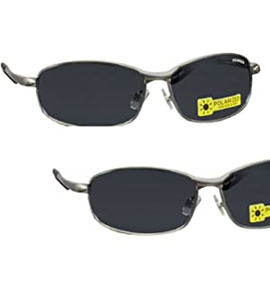 888ee898ba0 2 Pair Foster Grant Polarized Metal Frame Sunglasses with Spring Hinges  with Ironman Eyeglass Straps