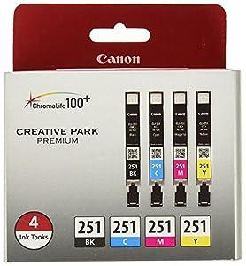 Canon CLI-251 Ink Pack for MX922, MG6420, MG5420, MG6320, iP8720, iX6820, MG7520, MG6620 by Canon