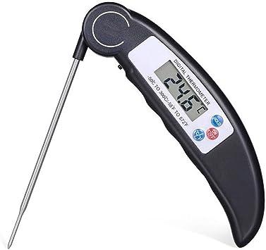 QKa Instantánea Leer Carne termómetro-sonda Plegable para Barbacoa, fumando, Comida, Cocina, termómetro, para freidora termómetro: Amazon.es: Deportes y aire libre