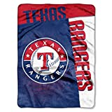 "MLB Texas Rangers Strike Plush Raschel Throw, 60"" x 80"""