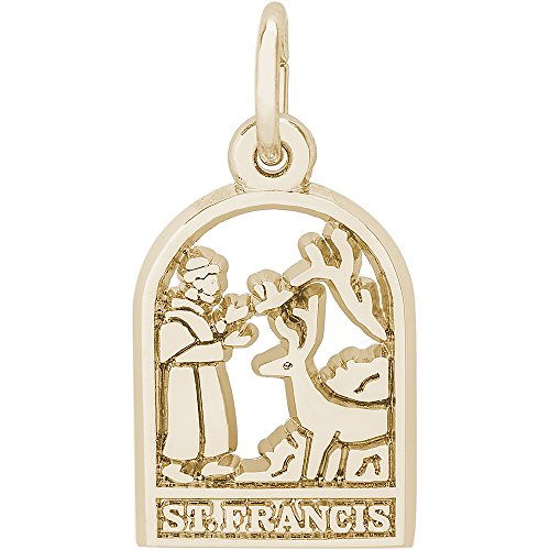 - Rembrandt Charms 14K Yellow Gold St. Francis Charm (10.5 x 15 mm)