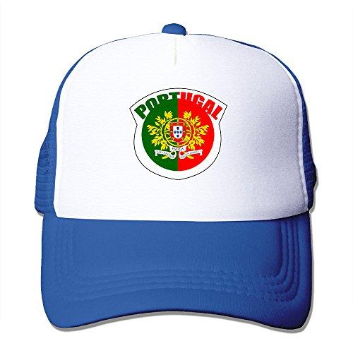 Elnory Euro 2016 Final Portugal Adjustable Trucker Hat RoyalBlue