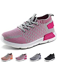 Kids Running Shoes Boys Girls Lightweight Breathable Easy...