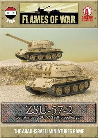 Battlefront Miniatures War Games - Arab - ZSU-57-2 - 1:100 Scale - Flames Of War: Amazon.es: Juguetes y juegos