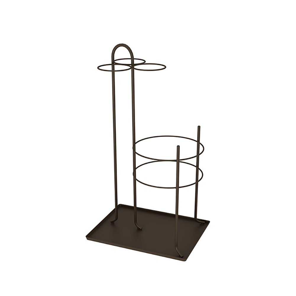 Umbrella Stands ZGL Umbrella Racks Household Iron Art Hall Lobby Umbrella Rack Landing Umbrella Bucket Hotel Storage Shelf (Color : Coffee color)