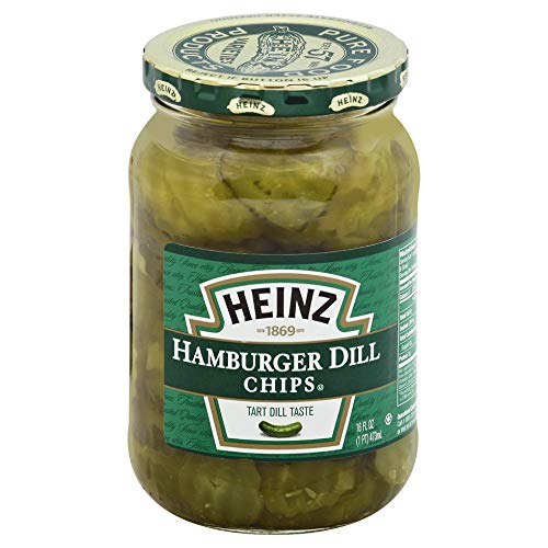 Heinz Hamburger Dill Chips Slices, 16 Ounces (12 Jars) (Best Pickles For Hamburgers)