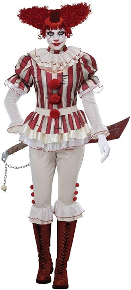 California Costumes Womens Sadistic Clown-Adult Costume