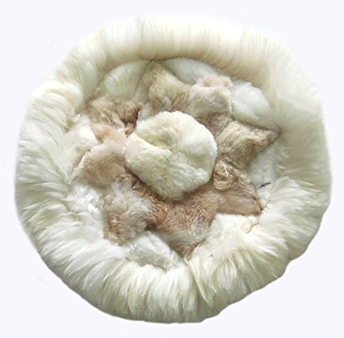 Alpakaandmore, Alpaca Fur Rug Round Different Sizes Star Designs (23.62/ 60 (Alpaca Fur Rug)