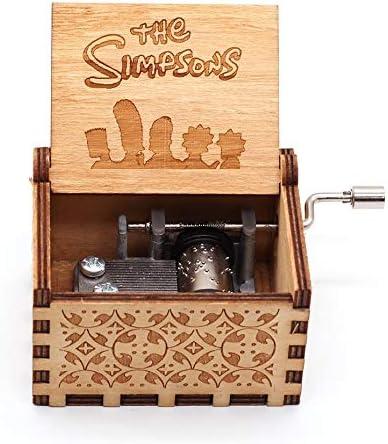 YouTang Caja de música con manivela de Mano grabada Caja Musical de Madera: Amazon.es: Hogar