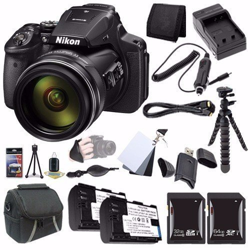 6Ave Nikon COOLPIX P900 16MP Digital Camera (International Model No Warranty) + EN-EL23 Battery + External Charger + 32GB SDHC Card + 64GB SDXC Card + Case + Mini Flexible Tripod + Saver Bundle Review