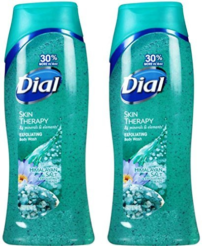 Dial Body Wash, Himalayan Salt with Exfoliating Beads 21 FL.OZ. (Pack of 2) Dial (Packaging may vary)