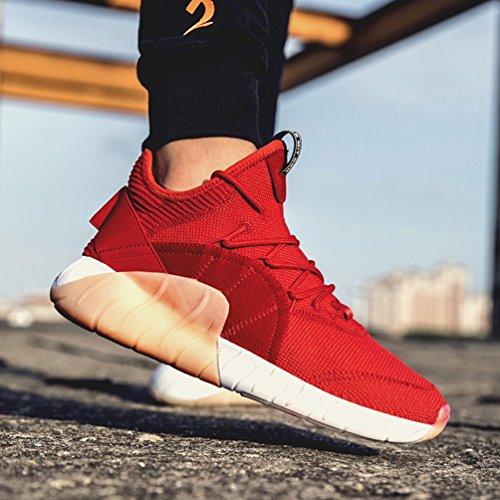 Souple Casual Rouge en Chaussure Running Jogging de Outdoor Course à Légère Homme Pied Sport Marche Sneaker de 44 Chaussure Textile 39 1pwa6O
