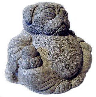 Amazoncom ZEN Lucky PUG DOG Buddha Art Statue Outdoor Statues