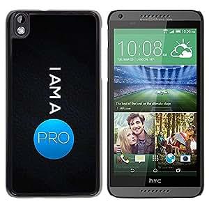 LECELL -- Funda protectora / Cubierta / Piel For HTC DESIRE 816 -- I Am A Pro --