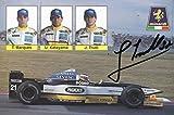 Jarno Trulli autograph Italian F1 driver signed