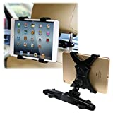 Vulcan-x Car Seat Back Holder with Adjustable Rotating Travel Kit for iPad Air iPad Air iPad Mini iPad 2 3 4, Samsung and 7-10.1 Inch Tablets