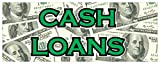 Cash Loans Banner Money Weekly Advance Payday Credit Retail Store Sign 48x120