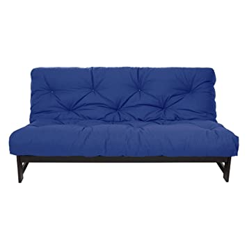 mozaic full size 8 inch futon mattress blue amazon    mozaic full size 8 inch futon mattress blue  kitchen      rh   amazon