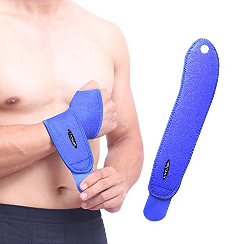 KIROLAK Wrist Support Brace Sports Exercise Training Hand Protector Neoprene Wrist Wraps with Thumb Loops for Cross Training Yoga Weight Lifting General Workout - Blue