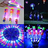 Opino Kids Toys LED Light Arrow Rocket Helicopter Flying Toy Party Fun Gift Elastic