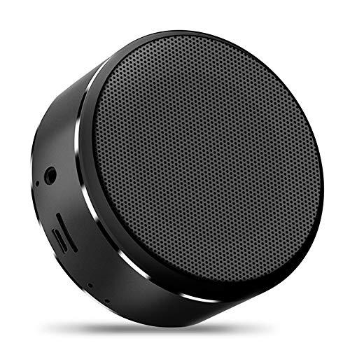 tooth Speaker Portable Card Speaker Mini Wireless Subwoofer Stereo Outdoor Bluetooth Speaker for Mobile Laptop,Black ()