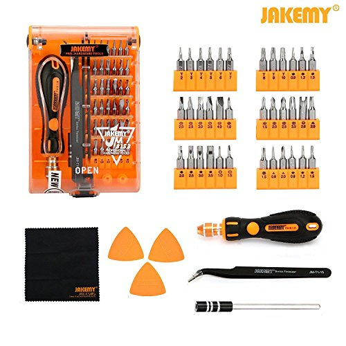 Electronic Screwdriver Set (Screwdriver Set, Jakemy Professional Repair Tool Kit, All in One with 36 Magnetic Driver Bits Screwdriver Kit, Opening Tool and Tweezer for iphone X / 8 / 7, Plus, Cell Phone, Macbook, Laptop, PC)