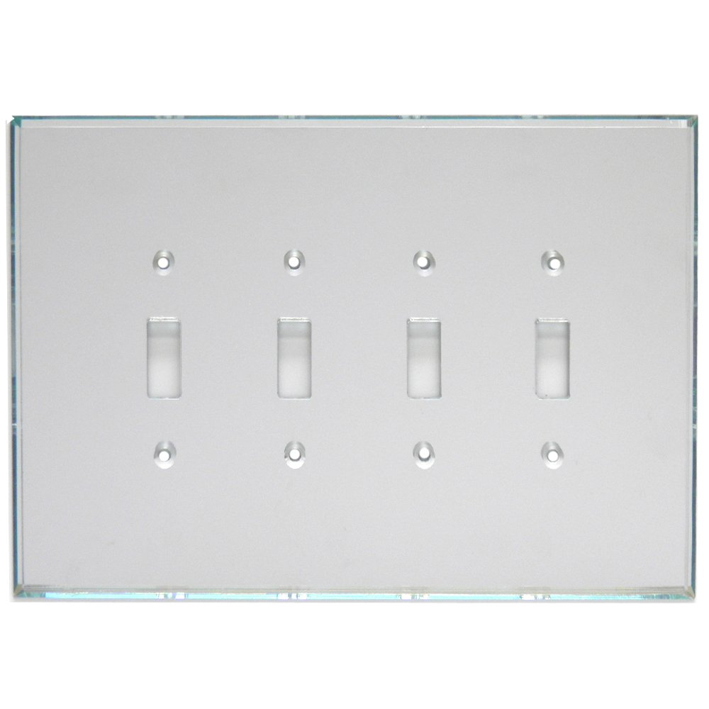 GlassAlike® Quad Single Toggle Switch Acrylic Mirror Switch Plate