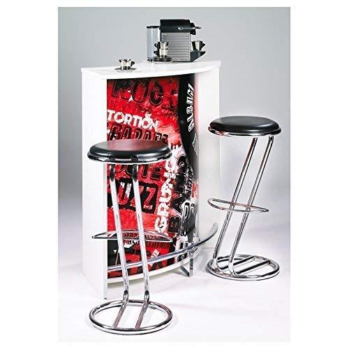SIMMOB snack106bl451 Rock 451 Mueble Bar/Comptoir de Cocina/Mueble de Acoplamiento Madera Blanco 53,3 x 106,9 X 104,8 cm: Amazon.es: Hogar