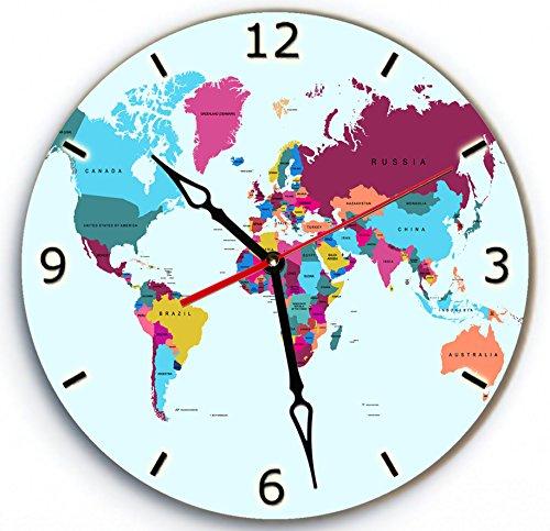 world digital clock - 9