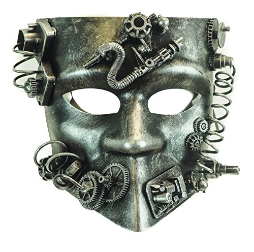 Mechanical Steampunk Gear Mask Halloween Costume Party Goggles (SILVER)]()