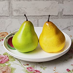 FYYDNZA 1Pcs Simulation Fruit Simulation Pear Fake Pear Model Decorative Arts And Crafts Photography Props 62