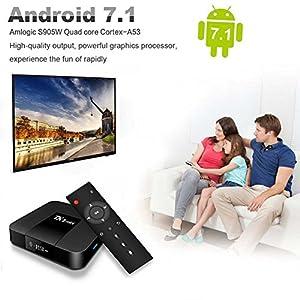 Android TV Box,Android 7.1 TV Box TX3 Mini 2GB/16GB Amlogic S905W Quad core 64 Bits WIFI Smart 4K TV Box