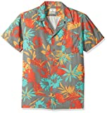 Quiksilver Men's Desert Trip Camp Short Sleeve Shirt, Quiet Shade Desert Trip, Medium