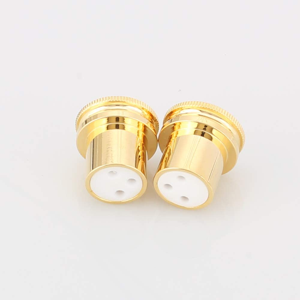 Rhodium Plated XLR male Female Noise Reducing Caps ptfe  Insulation JGUK  juRSDE