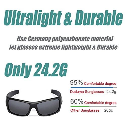 642b42fc84 Duduma Tr601 Polarized Sports Sunglasses for Baseball Cycling Fishing Golf  Superlight Frame(139 Black matte
