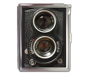 Vintage Camera Retro Cigarette Case Lighter Wallet Business Card Holder
