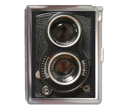 - Vintage Camera Retro Cigarette Case Lighter Wallet Business Card Holder