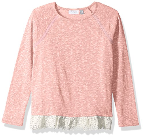 The Children's Place Big Girls' Sweater, Crystal Pink 86301, S (5/6) (Sweater Pink Cardigan Girls)