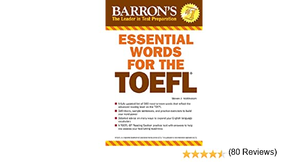 Amazon essential words for the toefl ebook steven j amazon essential words for the toefl ebook steven j matthiesen kindle store fandeluxe Choice Image