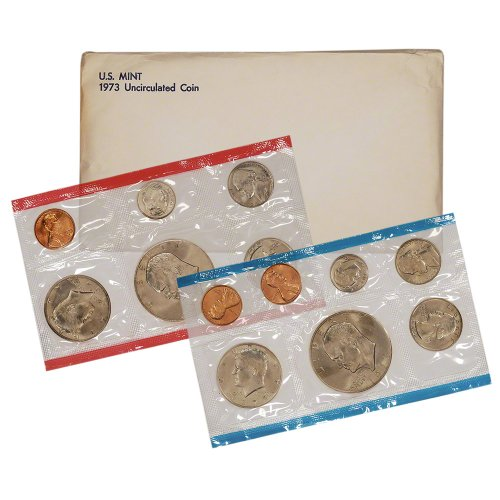 1973 United States Mint Uncirculated Coin Set in Original Government Packaging ()