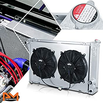 Radiator Shroud+12V Fan for 82-92 Chevy Camaro Z28// Pontiac Firebird,TRANS AM V8