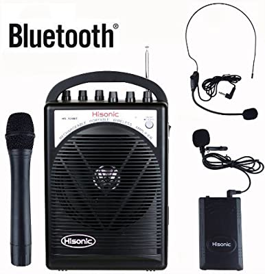 Hisonic Rechargeable & Portable PA (Public Address) System with Built-in VHF Wireless Microphone by Hisonic