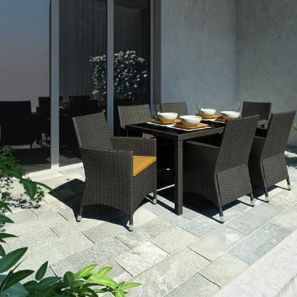 Amazon Com Sonax Z 506 Tpp Park 7 Piece Terrace Black Weave Patio