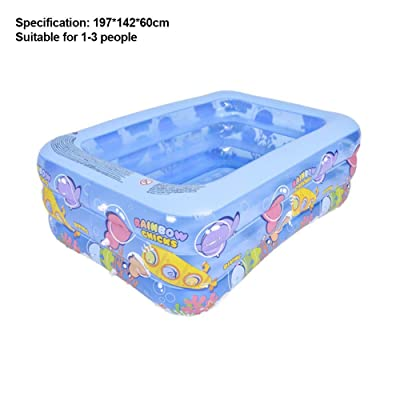 Eilane Family Inflatable Swimming Pool Thickened Abrasion-Resistant Lounge Pool Blow Up Pool for Kids Babies Adults Backyard, Summer Water Party: Home & Kitchen