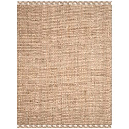 Safavieh Natural Fiber Collection NF467A Hand Woven Natural Jute Area Rug (9' x 12') (Sisal Rug X 12 12)