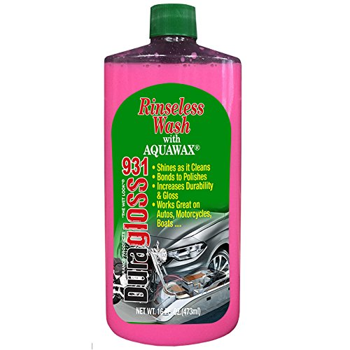 Duragloss 931 Rinse Free Auto Wash with Aquawax, 16 fl. oz