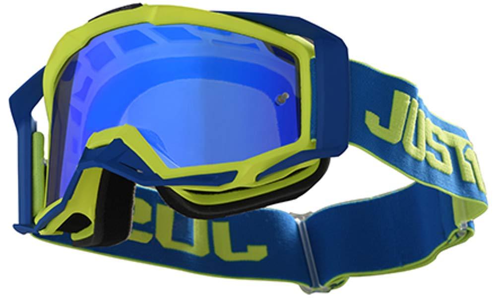 BLUE Maschera JUST1 goggle iris TRACK YELLOW
