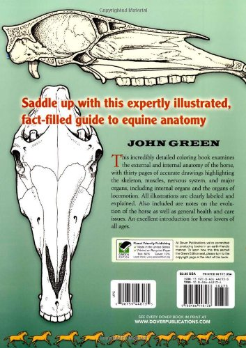 Horse Anatomy (Dover Nature Coloring Book): John Green ...