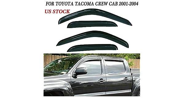 for 01-04 Toyota Tacoma//Hilux Crew Cab Window Visors Shade Vent Rain Guards